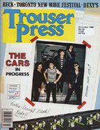 The Cars Trouser Press Magazine