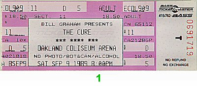 The Cure1980s Ticket
