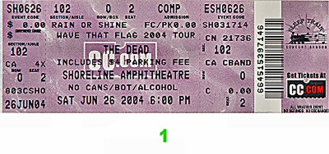 The Dead Post 2000 Ticket