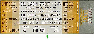 The Dinos1980s Ticket