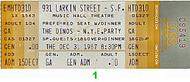 The Dinos 1980s Ticket