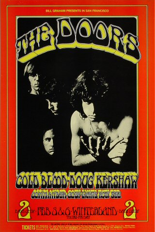 The Doors Poster Winterland San Francisco Ca Feb 5 1970
