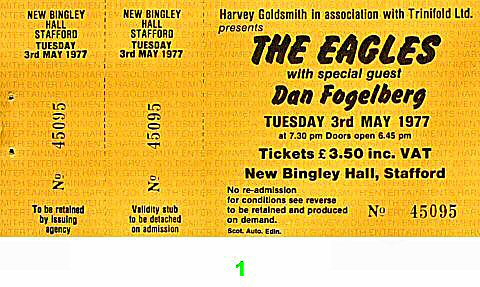 The Eagles 1970s Ticket