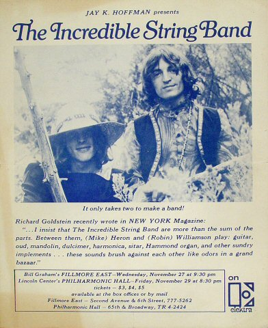 The Incredible String Band Handbill