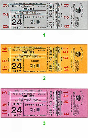 The Jets 1980s Ticket