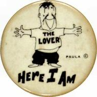 The Lover: Here I Am Vintage Pin