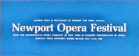 The Metropolitan Opera Company of New YorkProgram