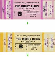 The Moody Blues 1970s Ticket