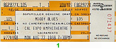 The Moody Blues1980s Ticket