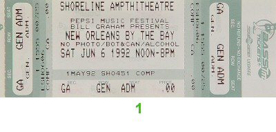 The Neville Brothers1990s Ticket