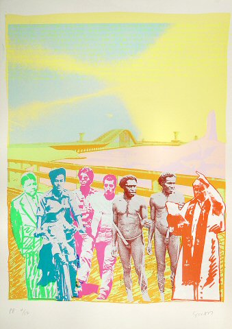 The News About Men Serigraph