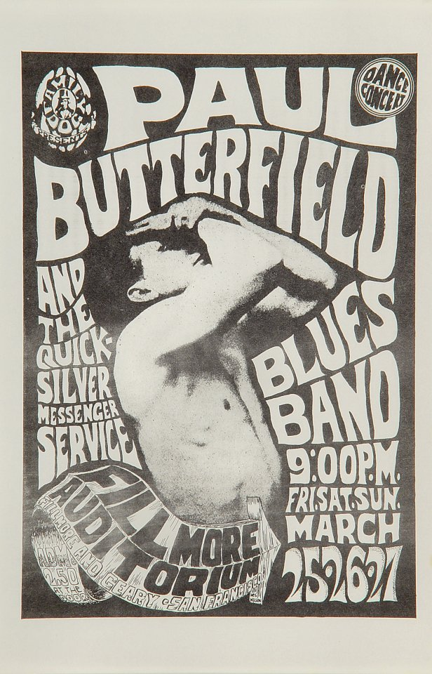The Paul Butterfield Blues Band Handbill