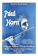 The Paul Horn Quintet Handbill
