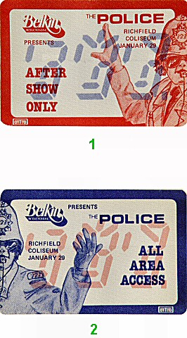 The Police Backstage Pass