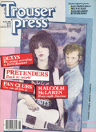The Pretenders Trouser Press Magazine
