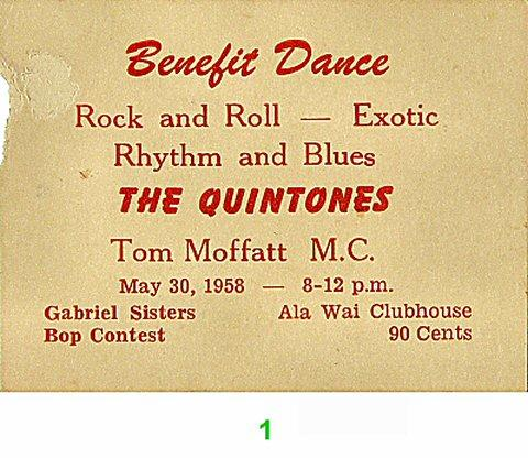 The Quintones Vintage Ticket