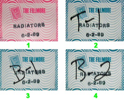 The Radiators Backstage Pass