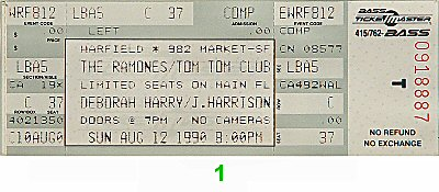 The Ramones1990s Ticket