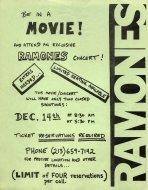 The Ramones Handbill