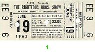 The Righteous Brothers Vintage Ticket