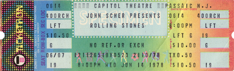 The Rolling Stones1970s Ticket