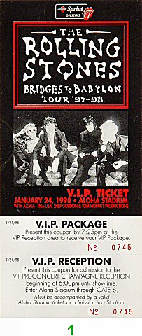 The Rolling Stones 1990s Ticket