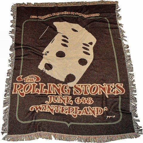 The Rolling Stones Retro Afghan