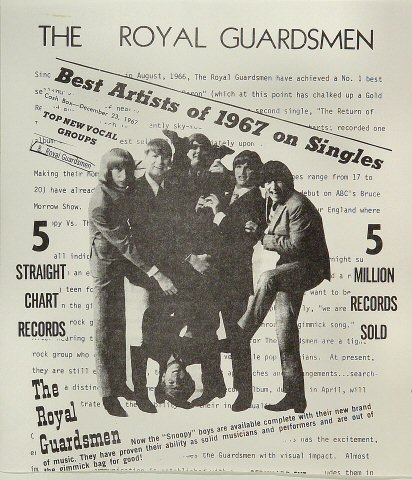 The Royal Guardsmen Handbill