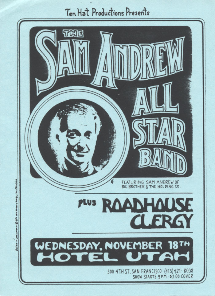 The Sam Andrew Band Handbill