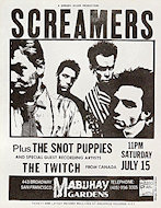 The Screamers Handbill