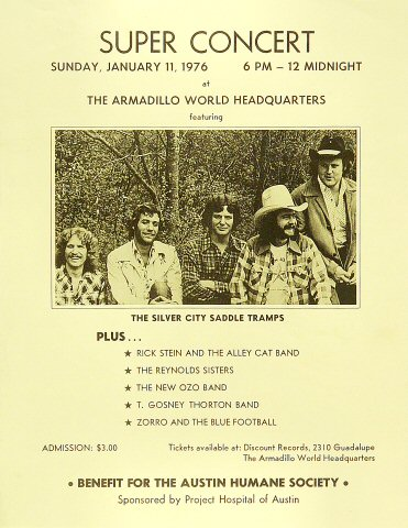 The Silver City Saddle Tramps Handbill