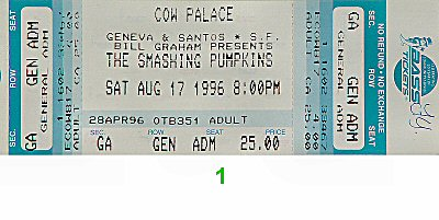 The Smashing Pumpkins 1990s Ticket