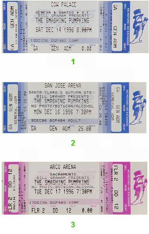 The Smashing Pumpkins Vintage Ticket