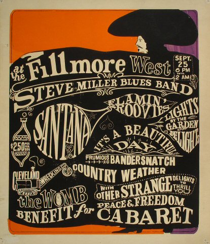 The Steve Miller Blues Band Serigraph
