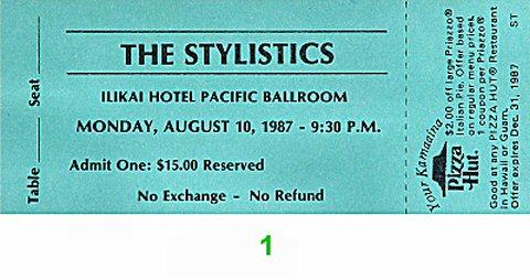 The Stylistics1980s Ticket