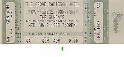 The Sundays1990s Ticket