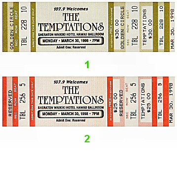 The Temptations 1990s Ticket