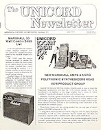The Unicord Newsletter Program