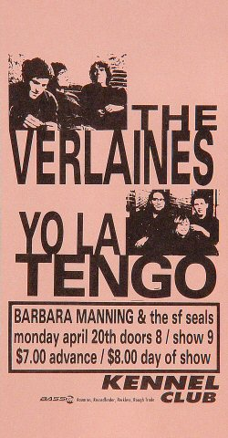 The Verlaines Handbill