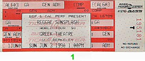The Wailers Vintage Ticket