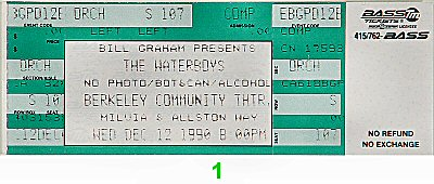 The Waterboys 1990s Ticket