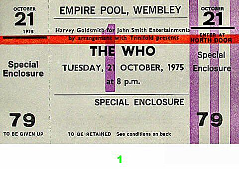 The Who1970s Ticket