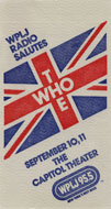 The Who Backstage Pass