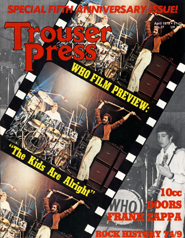 The Who Trouser Press Magazine