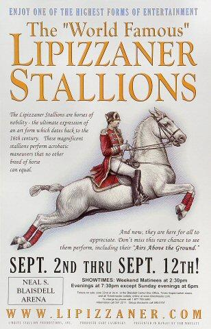 "The ""World Famous"" Lipizzaner Stallions Poster"