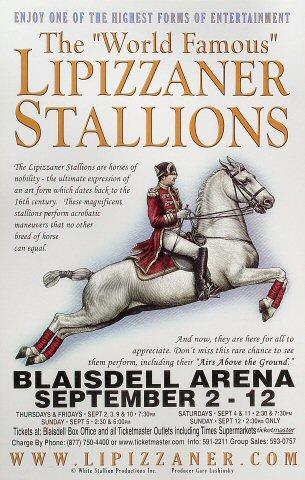 The &quot;World Famous&quot; Lipizzaner Stallions Poster