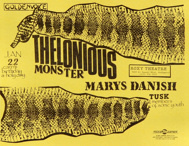 Thelonious Monster Handbill