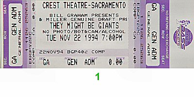 They Might Be Giants1990s Ticket