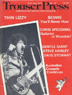 David Bowie Trouser Press Magazine