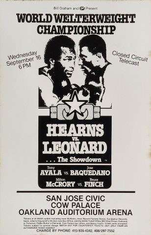 "Thomas ""Hitman"" Hearns Poster"